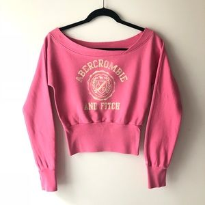 Abercrombie Off-Shoulder Cropped Sweater XS
